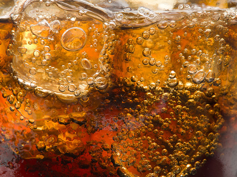 Ice cold cola soda beverage