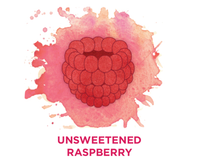 Unsweetened raspberry Bevi Cooler water flavor