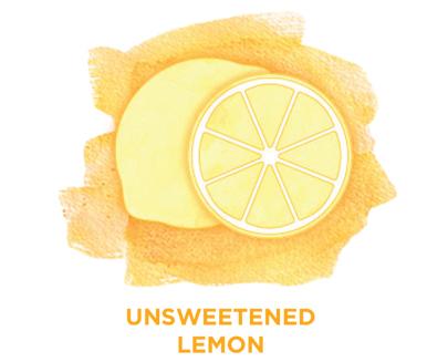Unsweetened lemon Bevi Cooler water flavor