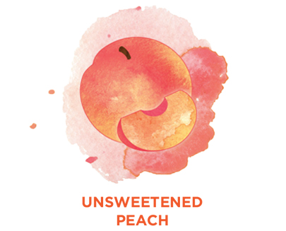 Unsweetened peach Bevi Cooler water flavor