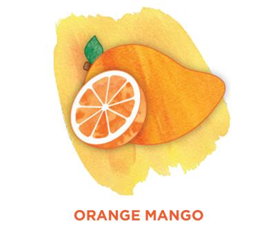 Orange mango Bevi Cooler water flavor