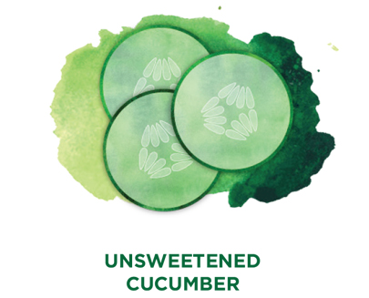 Unsweetened cucumber Bevi Cooler water flavor