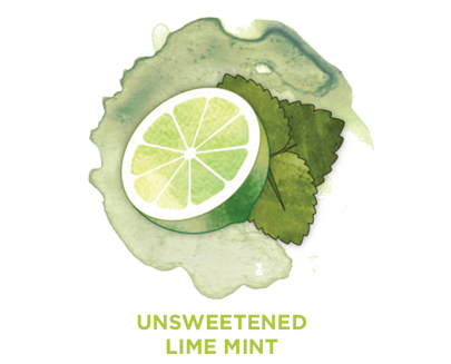 Unsweetened lime mint Bevi Cooler water flavor